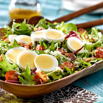 BLT salad with sweet onion vinaigrette