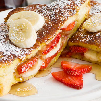 Stuffed French Toast with Strawberries and Banana