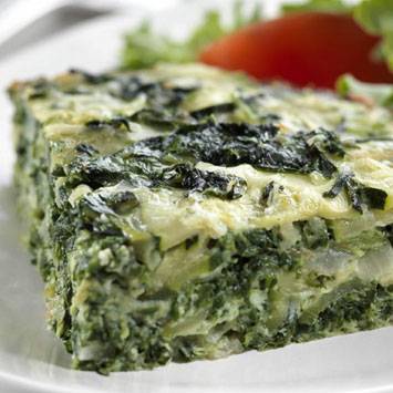 Spinach and Zucchini Frittata