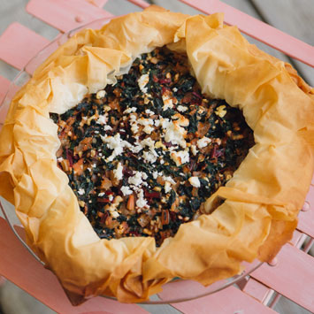 Mini Curried Spinach and Chard Phyllo Pies