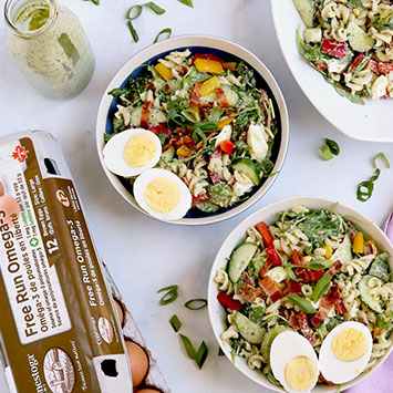 Gluten Free 'B.E.L.T.' Cold Pasta Salad with Avocado Ranch Dressing