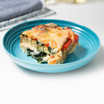 Three Cheese Spinach Strata