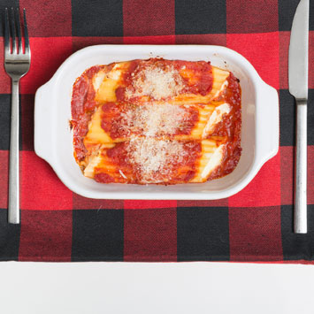 Cheese Manicotti with Chunky Marinara Sauce