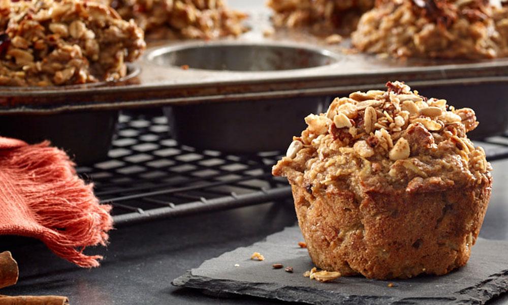 Apple Oat Breakfast Muffins