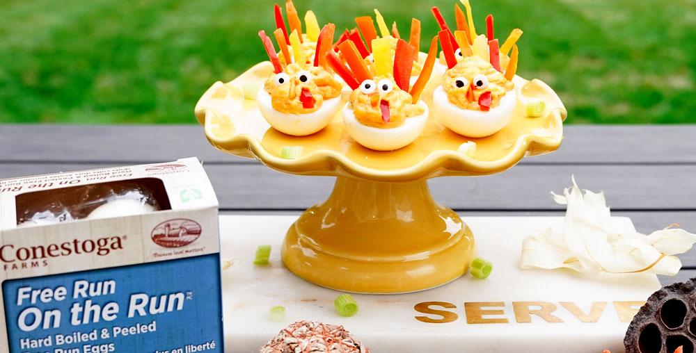 Turkey Deviled Eggs