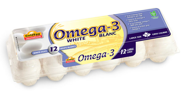 Omega-3 Large White Eggs