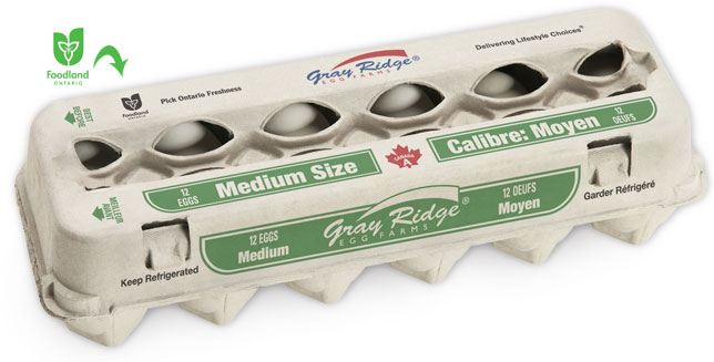 Gray Ridge Medium White Eggs