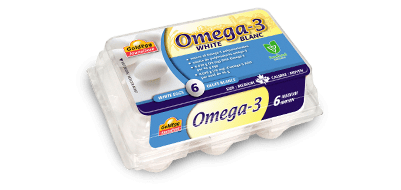 Omega-3 Medium White Eggs