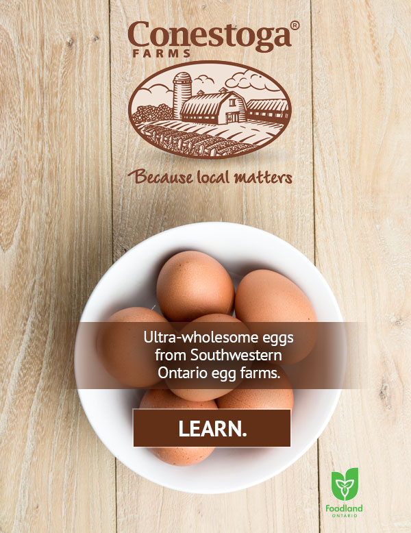 Ultra-wholesome eggs from Southwestern Ontario egg farms.
