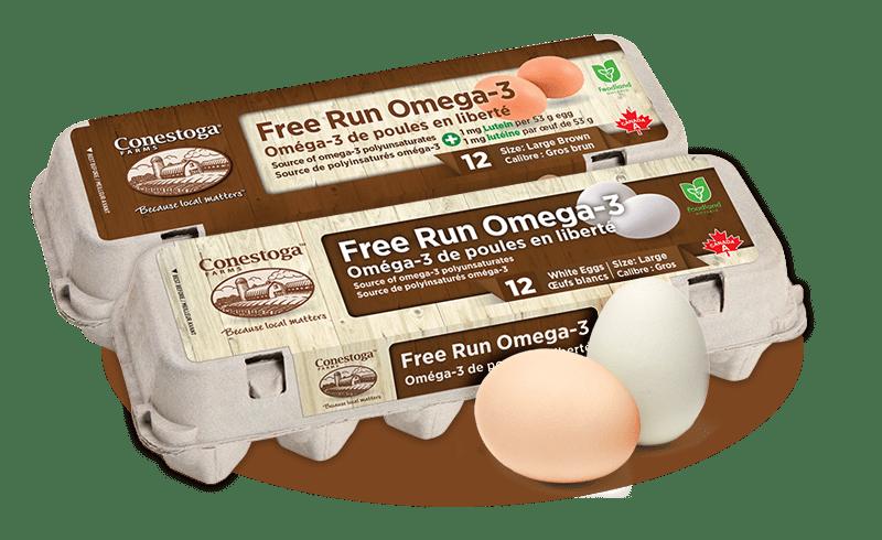 Free Run Omega 3 Eggs