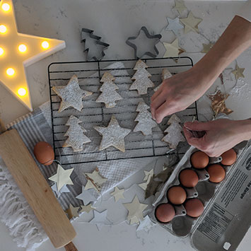 Cranberry Orange Christmas Sugar Cookies