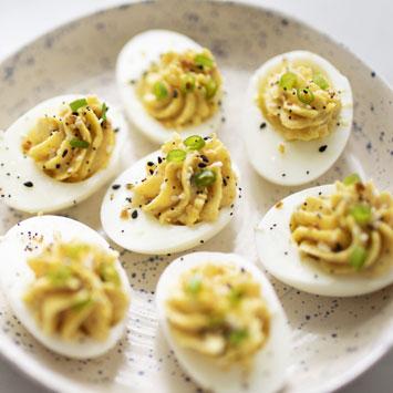 Everything Bagel Devilled Eggs