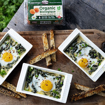 Spinach and Crème Fraîche Coddled Eggs