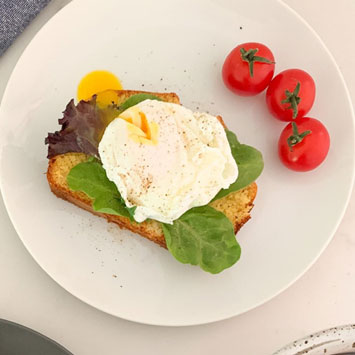 Gluten-Free Cornbread with Poached Eggs
