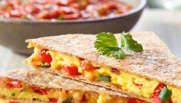 Crispy Breakfast Quesadillas