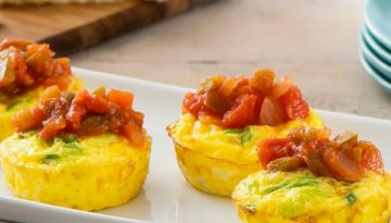 Muffin Tin Frittatas with Salsa